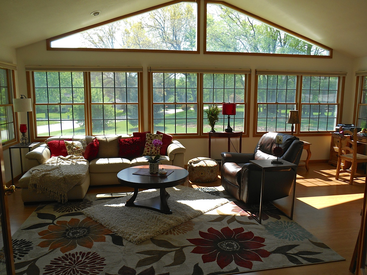 Interior view of sunroom