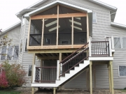 double story deck sunroom
