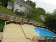 Treated Pool Deck with Alum.Spindals