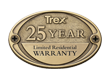 trex warranty 25 year composite deck
