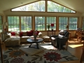 Interior view of sunroom