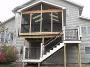double story deck sunroom