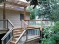 Cedar deck and railing with Pergola over deck