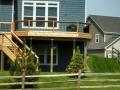 Cedar deck and railing