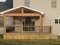 Lanai with treated deck and railing