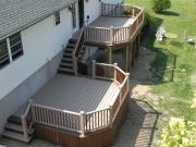 double deck attached by steps